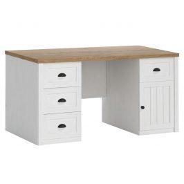 Psací stůl PROVANS B1, borovice andersen/dub lefkas