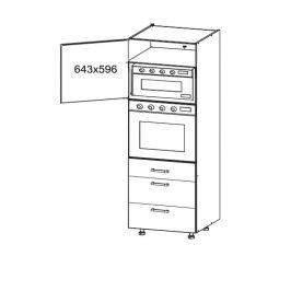 EDAN vysoká skříň DPS60/207 SAMBOX, korpus bílá alpská, dvířka dub reveal