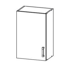 PLATE PLUS horní skříňka G50/72, korpus congo, dvířka bílá perlová