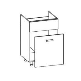PLATE PLUS dolní skříňka DKS60 SMARTBOX pod dřez, korpus congo, dvířka bílá perlová