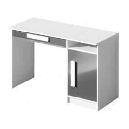 Pracovní stůl GULLIWER 9, bílá/šedá lesk