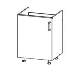 FIORE dolní skříňka DK60 pod dřez, korpus bílá alpská, dvířka bílá supermat