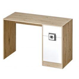 Pracovní stůl NIKO 10, dub jasný/bílá/popel