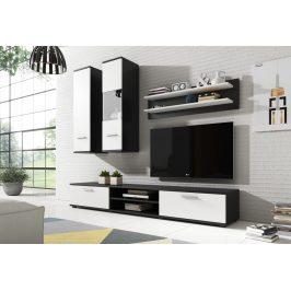 Obývací stěna GRINDA, černá/bílá