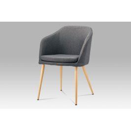 Jídelní židle DCH-131 GREY2, šedá látka/kov buk