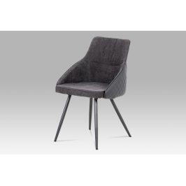 Jídelní židle  DCH-202 GREY2, šedá látka+ekokůže/kov šedá Židle do kuchyně