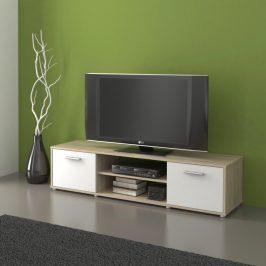 Televizní stolek ZU01, dub sonoma/bílá Stolky pod TV