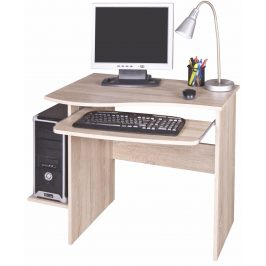 PC stůl s výsuvnou deskou MAXIM, dub sonoma