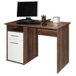 Kancelářský psací stůl MIRO, švestka/bílá