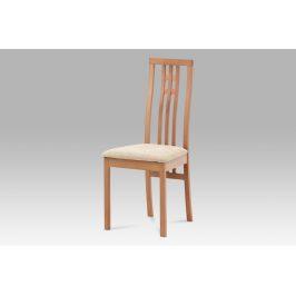 Dřevěná židle BC-2482 BUK3, buk/potah krémový Židle do kuchyně