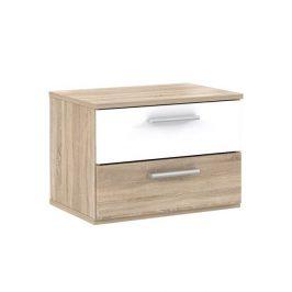 Forte GOLDSTAR, noční stolek (2 kusy), dub sonoma/bílá