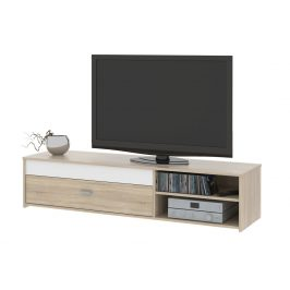 MB Domus Televizní stolek FU03, dub sonoma/bílá Stolky pod TV