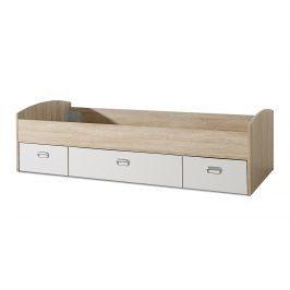 MIA postel 90x200 cm, dub sonoma/bílá