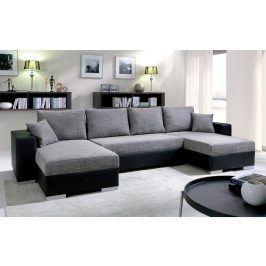 Rohová sedačka KENZO 4, šedá/černá ekokůže