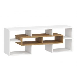 TV stolek RIO 20, dub burgundský/bílá