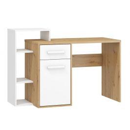 Psací stůl L RIO 03, dub artisan/bílá