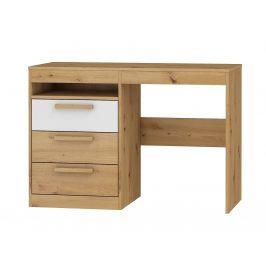 Psací stůl 3S MAXIM 03, dub artisan/bílý lesk