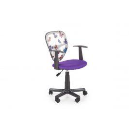 Dětská kancelářská židle SPIKER, fialová Kancelářská křesla