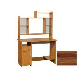 PC stůl s nástavcem KIER MAX, barva: švestka wallis