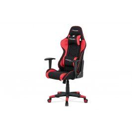 Kancelářská židle KA-V608 RED, červená látka/černá ekokůže