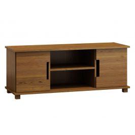 Televizní stolek MODERN NR 6, 160/55/47, masiv borovice, moření: dub