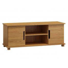 Televizní stolek MODERN NR 6, 160/55/47, masiv borovice, moření: olše