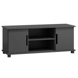 Televizní stolek MODERN NR 6, 140/55/47, masiv borovice, moření: šedá Stolky pod TV