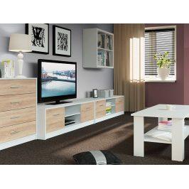 Obývací pokoj NEPO, bílá/dub sonoma