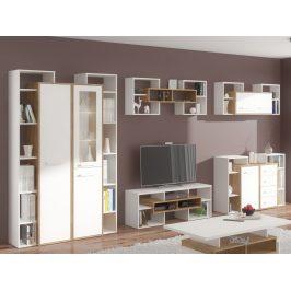 Obývací pokoj RIO 7, dub burgundský/bílá