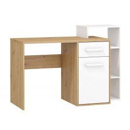 Psací stůl P RIO 04, dub artisan/bílá