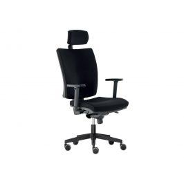 Kancelářská židle LARA VIP s podhlavníkem, černá