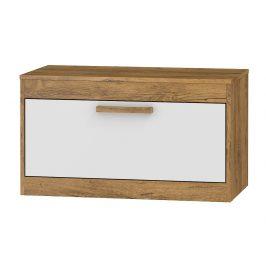 TV stolek 1D MAXIM 33, dub burgundský/bílý lesk