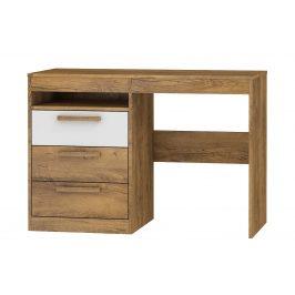 Psací stůl 3S MAXIM 03, dub burgundský/bílý lesk