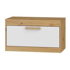 TV stolek 1D MAXIM 33, dub artisan/bílý lesk
