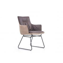 Jídelní židle K-271, tmavě šedá/světle šedá