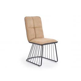 Jídelní židle K-269, světle hnědá/černá
