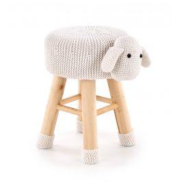 Dětský taburet DOLLY - ovečka, krémová