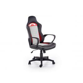 Kancelářské křeslo BERING, černo-šedo-červená