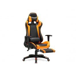 Kancelářské křeslo DEFENDER-2, černo-oranžová