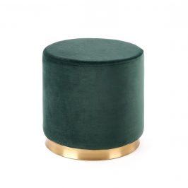 Taburet COVET, tmavě zelená