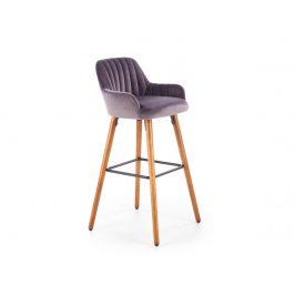 Barová židle H-93, tmavě šedá