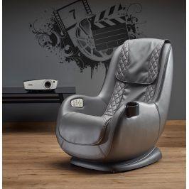 Masážní křeslo DOPIO s USB, šedá