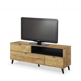 Televizní stolek NEST RTV-1, dub lefkas/černá