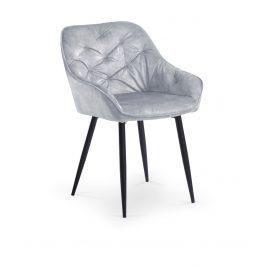 Jídelní židle K-418, šedá