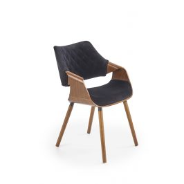 Jídelní židle K-396, černá/ořech