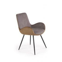 Jídelní židle K-392, šedo-hnědá
