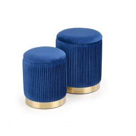 Set dvou taburetů MONTY, námořnická modř