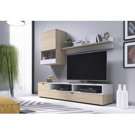 Obývací stěna SNAP, dub sonoma/bílá