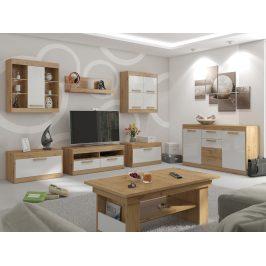 MAXIMUS obývací pokoj 2, dub artisan/bílý lesk