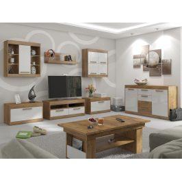 MAXIMUS obývací pokoj 2,dub burgundský/bílý lesk